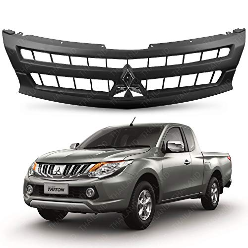 Powerwarauto Front Grille Grill Matte Black Color Chrome Logo Trim For Mitsubishi Triton L200 MN ML MQ UTE Truck 2 Doors 4 Doors 4WD 2WD 4x4 4x2 2015 2015 2017 2018 V.2