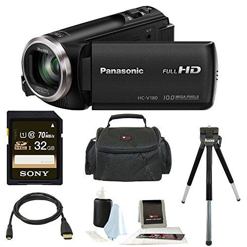 Panasonic HC-V180K Full HD 1080p Camcorder Bundle (32GB Premium Kit) by Panasonic