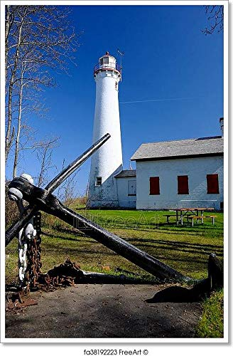 - Barewalls Sturgeon Point Lighthouse, Built in 1869 Paper Print Wall Art (36in. x 24in.)