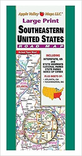 South East USA Fold Map: Cleveland Enterprises ...