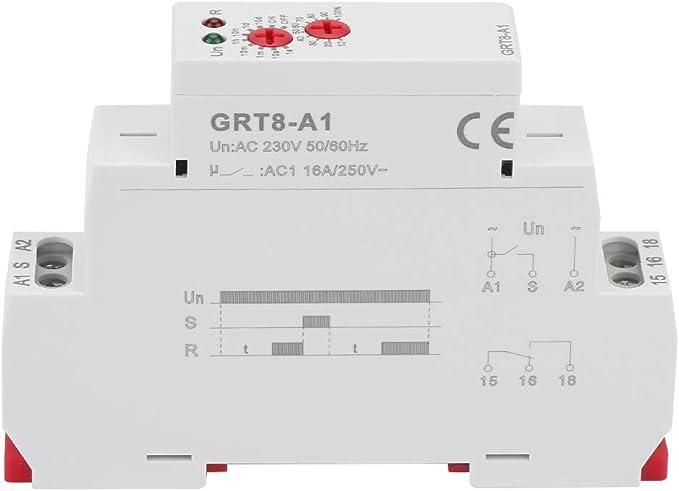 Fictory Rel/è temporizzato con Ritardo ritardato Rel/è temporizzato GRT8-B1 Rel/è temporizzato con Mini Ritardo di Ritardo Rel/è temporizzato Tipo Guida DIN Rel/è temporizzato CA 220 V