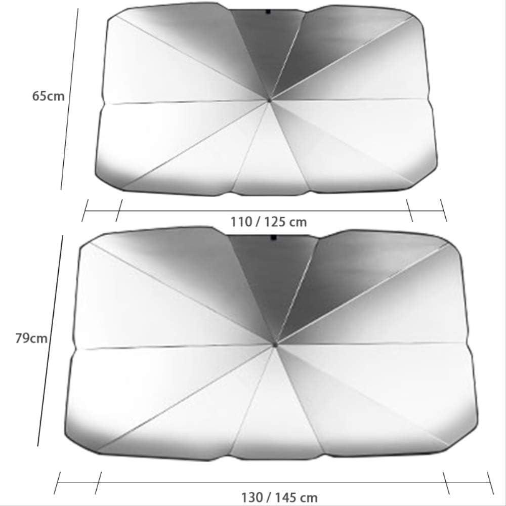 LanTianX Autoabdeckung Frontscheibenabdeckung Innenschutzabdeckungen Universal Auto Innenschirm Sonnenschirm Uv-Schutz Auto Front Heckscheibe Sonnenschutz Windschutzscheibe 65X125cm