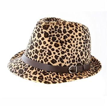 Leopard Print Trilby Hat - New - Sz 57cm  Amazon.co.uk  Sports   Outdoors 805cb2d1c9e
