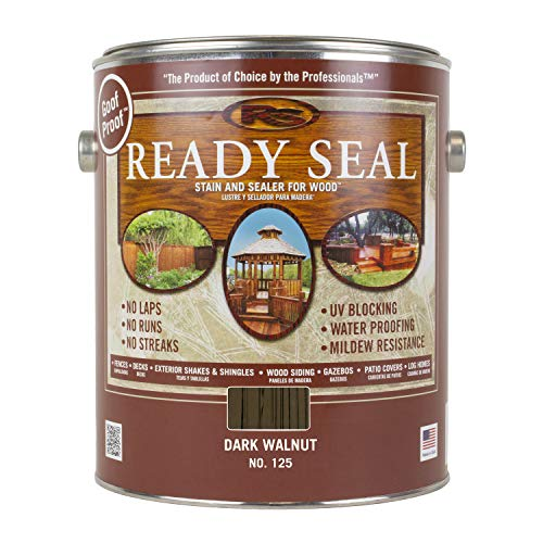Ready Seal 125 1-Gallon Can Dark Walnut Exterior Wood Stain and Sealer (Paint Pine Wood)