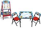 Crib Changing Table and Dresser 3 Pc Set NEW! Paw Patrol Erasable Activity Table Set and Delta Children Paw Patrol Activity Easel with Toy Storage Bins