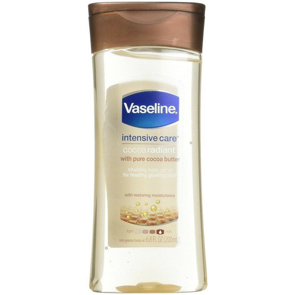 Vaseline Intensive Care Gel Cocoa Radiant Oil 6.8 Ounce (201ml) (3 Pack)