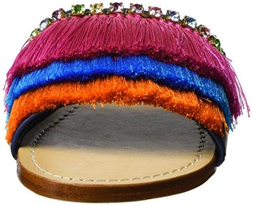 Mystique Mujer cuña con Sandalias Multicolor Mystique Marino AZAaqR