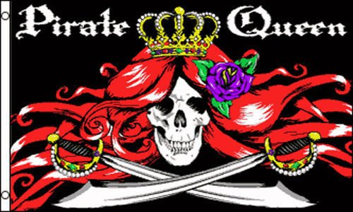 Moon 3x5 Jolly Roger Pirate Queen Skull and Crossed Swords F