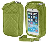 Charm14 Purse Plus Quilt Cell Phone Case/Purse with Touchscreen – Lime Green