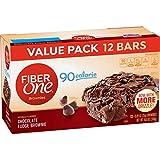 Fiber One Brownies, 90 Calorie Bar, Chocolate Fudge Brownie, 12 Fiber Bars, 10.6 oz (Value Pack)