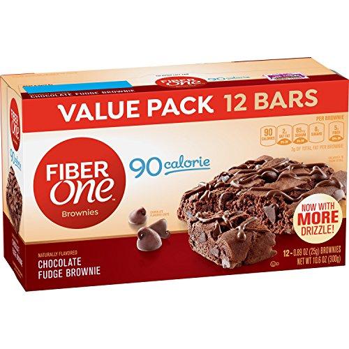 Fiber One Brownies, 90 Calorie Bar, Chocolate Fudge Brownie, 12 Fiber Bars, 10.6 oz (Value Pack) (Fiber Pack)