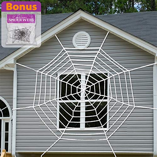Pawliss 9 Feet Giant Spider Web with Super