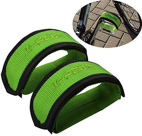 Helaryfreemear 1 Paire V/élos Fixied P/édale avec Double Attache Velcro pour BMX Pignon Fixe Orteil Sangles Clip Ceinture