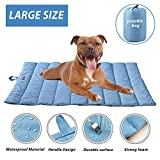 """furrybaby Portable Waterproof Travel Pet Bed Mats for Cats&Puppy Dog Mattress Pad Mat Cushion for Indoor Outdoor Use Blue Large (43×27"""") Review"""