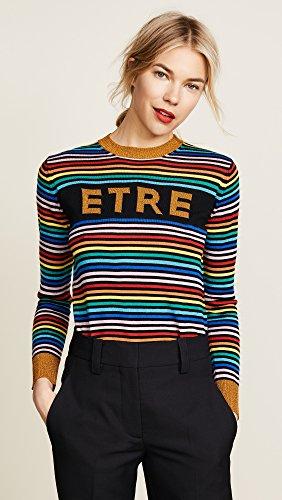 Etre Cecile Women's Etre Boyfriend Crew Knit Sweater, Multi Stripe, Large by Etre Cecile (Image #2)
