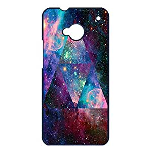 Magic Universe Triangular Nebula Galaxy Phone Case Cover for Htc One M7 Nebula Galaxy Mysterious