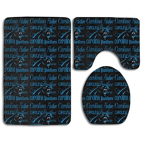- Weckim Carolina Panthers Anti-Skid Lock Water Quick-Dry Bathroom Anti-Skid Three-Piece Set