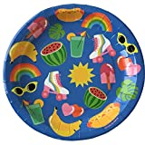 We Love Sundays Fruit & Summer Picnic Party Paper Plates | 10-Pack | Great for Colorful/Summer Themed Parties
