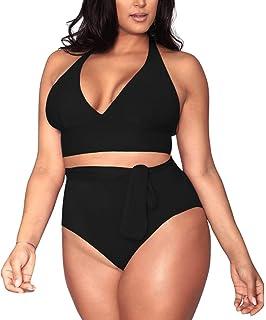 Amazon.com: Yomoko Traje de baño para mujer, talla grande ...