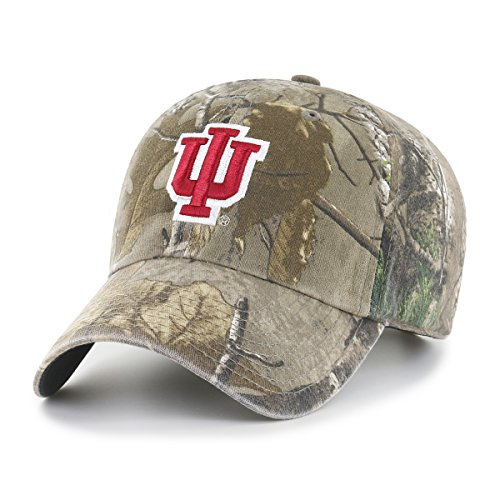 NCAA Indiana Hoosiers Realtree OTS Challenger Adjustable Hat, Realtree Camo, One Size