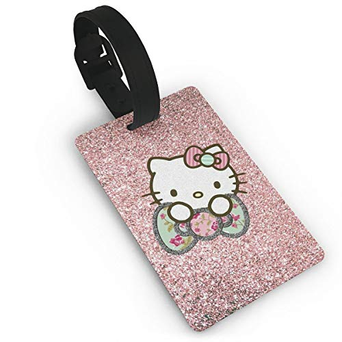 LXINGLI Fashion Bling Hello Kitty Luggage Tags Suitcase Carry-onId Travel ID Bag Tag for Suitcase ()