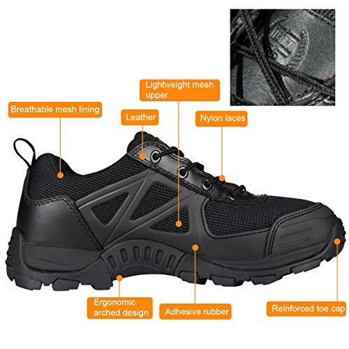 Wild Hiking Men's Outdoor Black SOLDIER Boots Shoes FREE Hiking Low PBvBwYq