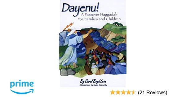 image relating to Children's Passover Seder Printable called Dayenu!: A Pover Haggadah for Households and Kids