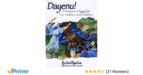 photograph regarding Children's Passover Seder Printable titled Dayenu!: A Pover Haggadah for People and Youngsters