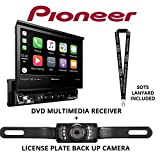 Pioneer AVH-3300NEX 7″ Single Din DVD Receiver Apple CarPlay Built in Bluetooth with License Plate Style Backup Camera and a Free SOTS Lanyard Review
