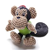 ubest Dog Squeaky Soft Toys with Strong Balls 4 Characters Monkey