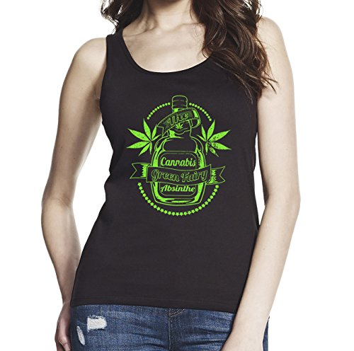 Drink Weed, Women Black/Navy Blue 100% Softstyle Cotton Tank Top S-2XL, d518