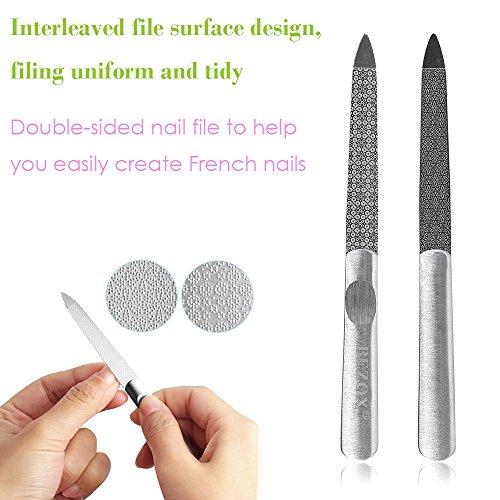 Amazon BEZOX Metal Nail File And Cuticle Pusher