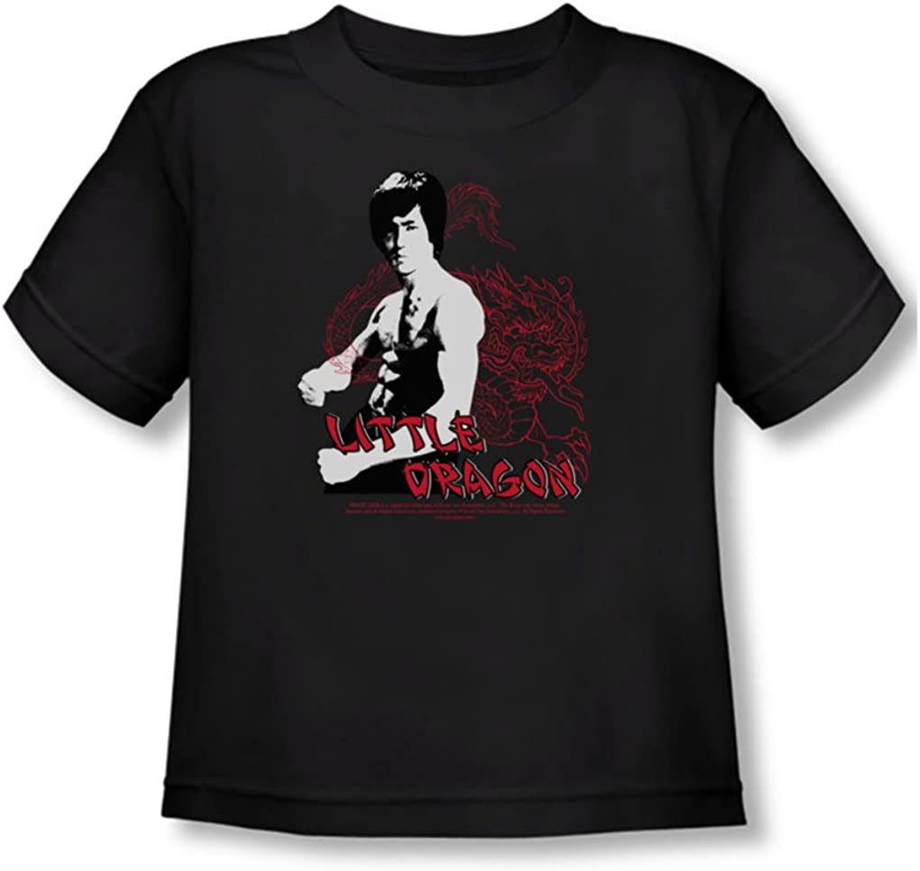 Bruce Lee Little Dragon Toddler T-Shirt In Black