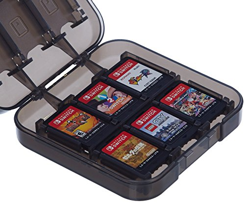 (AmazonBasics Game Storage Case for Nintendo Switch - Black)