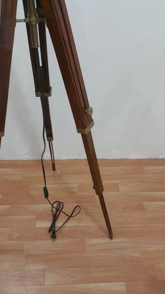 Amazon.com: MIR Antique Nautical Floor Shade Wooden Tripod ...