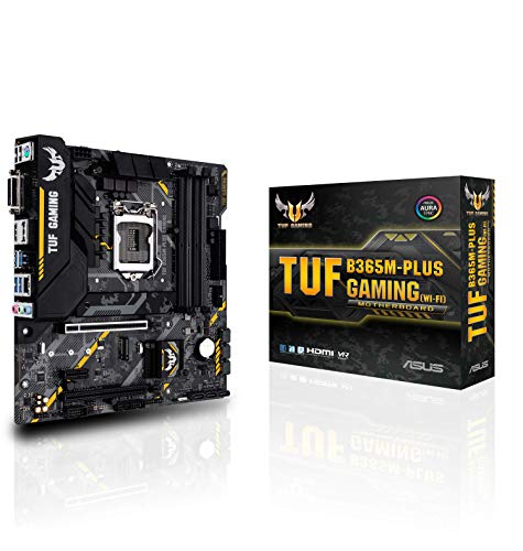 Asus TUF B365M-PLUS Gaming (Wi-Fi) LGA1151 (300 Series) DDR4 HDMI WiFi M.2 mATX Motherboard