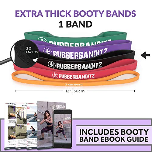 Rubberbanditz Extra Thick Booty Bands | Hip, Glute, Leg Mini Loop Resistance Workout Band