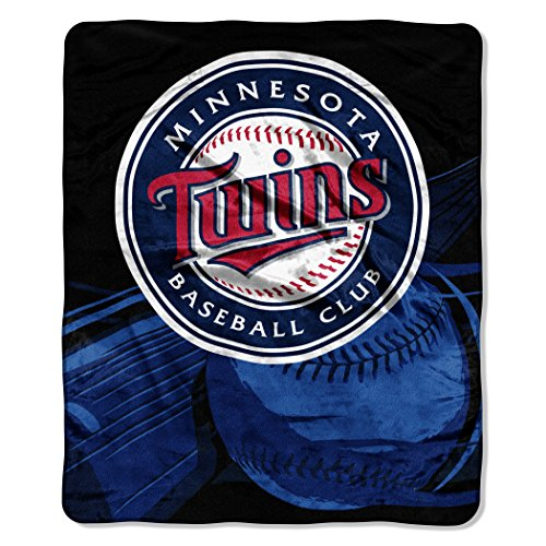 Officially Licensed MLB Big Stick Raschel Throw Blanket, Bedding, Soft & Cozy, Washable, 50