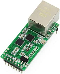 USRIOT USR-TCP232-T2 Serial Module Tiny Serial Ethernet Converter Module UART TTL to Ethernet TCPIP Module Support DHCP and DNS