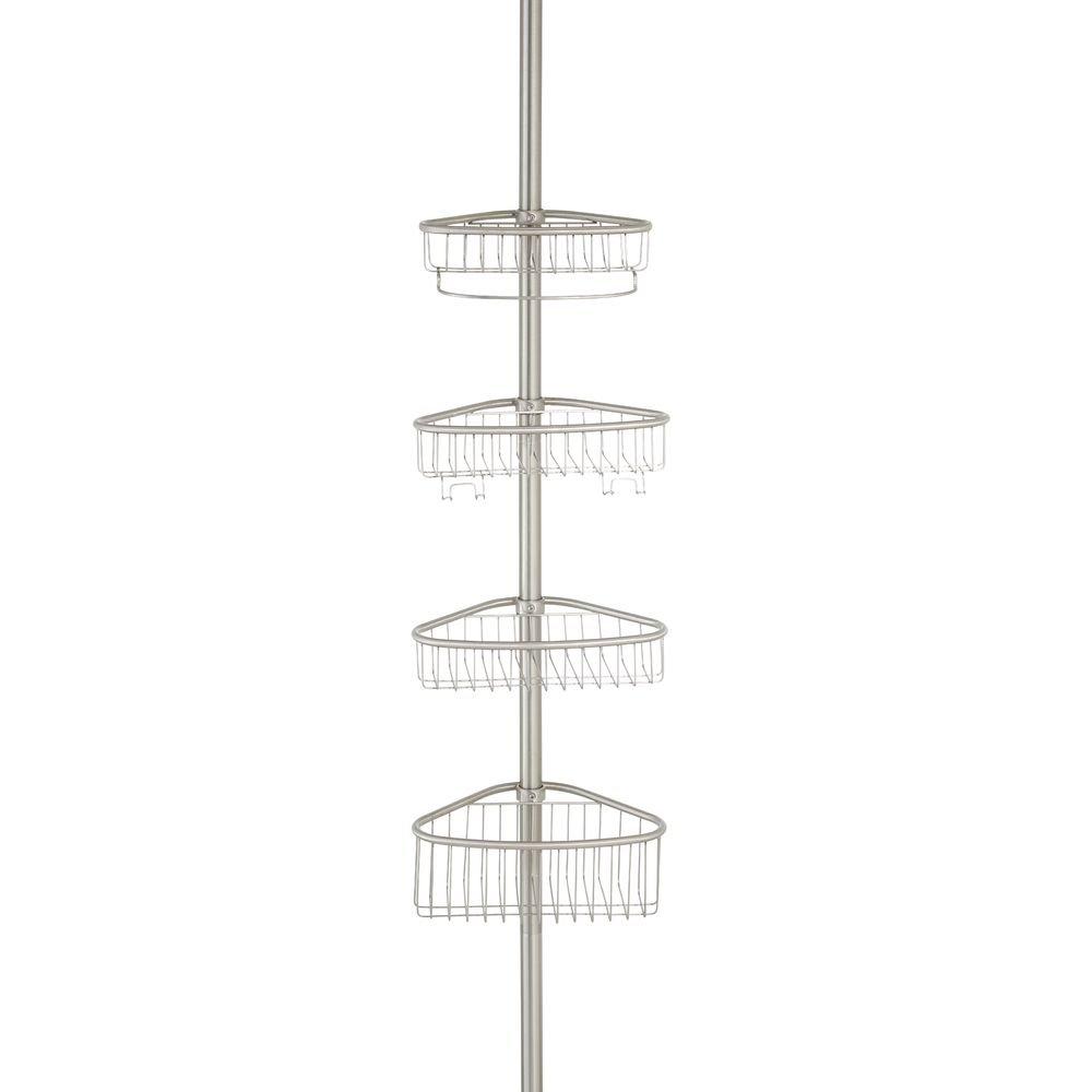 interdesign forma teleskop duschregal mit handtuchhalter. Black Bedroom Furniture Sets. Home Design Ideas