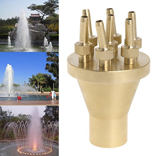 inkler Fountain Nozzle 2 Tier Center Straight Garden Water Spray Head ()