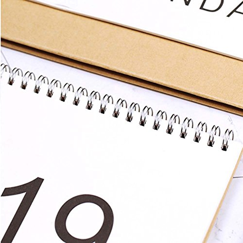 JUNDA Desk Pad Calendars,Twin-Wire Binding,July 2018 - December 2019,Monthly Planners for Office,School,Family,15x24x7CM,Pack of 2 by JUNDA (Image #1)