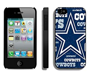 Dallas Cowboys 3 Black Durable Hard Shell iPhone 4S Phone Case
