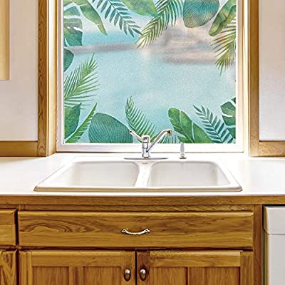 Wonderful Piece, Window Film for Privacy Story Plants Large Decorative Glass Sticker for Office Home Meeting Room Bathroom Self Adhesive Anti UV Removable Flims, Classic Artwork