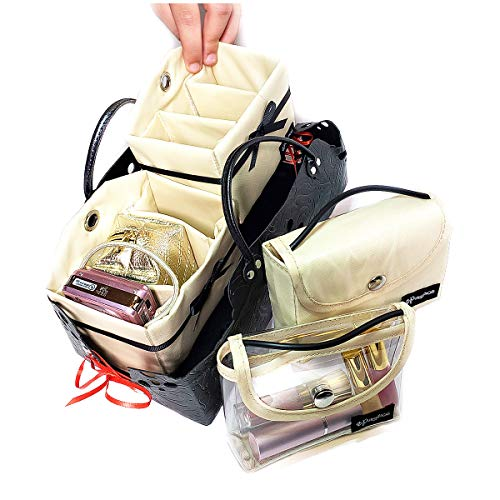 PursePacks Purse Organizer Insert Liner Dividers Cosmetic Bags Bins Luxury 5 Set ()