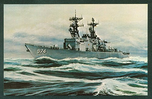 USS COMTE DE GRASSE DD-974 Destroyer Spruance Class Military Ship Postcard