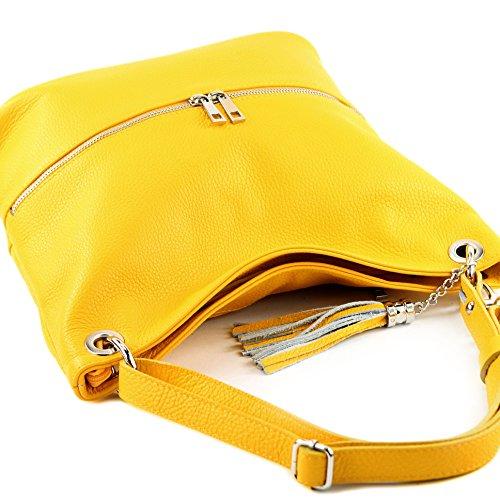 modamoda de sac en épaule cuir Gelb sac dames T143 d'épaule en ital sac cuir rrwRpZTn