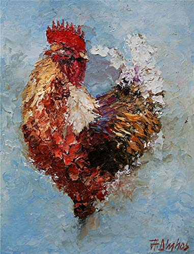 SOLD With Authority, Barnyard Rooster By Internationally Renown Artist Andre Dluhos