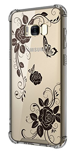 Cutebe Shockproof Hard PC+ TPU Bumper Case Scratch-Resistant Cover for Samsung Galaxy S8 Plus (2017) Butterfly