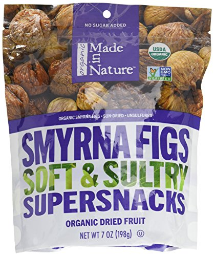 Made in Nature Certified Organic Dried Fruit, Smyrna Figs, Sun-Dried with No Sugar Added, 7 oz. Bag